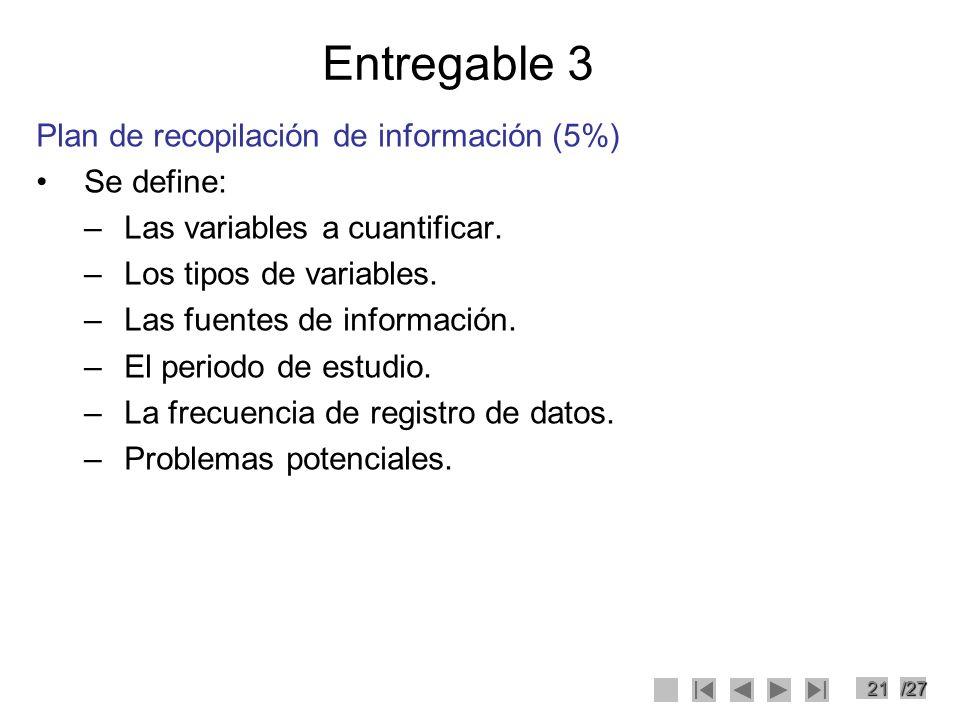 Entregable 3 Plan de recopilación de información (5%) Se define: