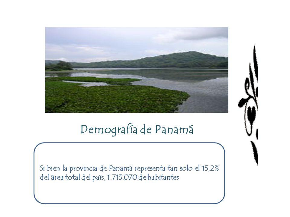Demografía de Panamá Si bien la provincia de Panamá representa tan solo el 15,2% del área total del país, 1.713.070 de habitantes.