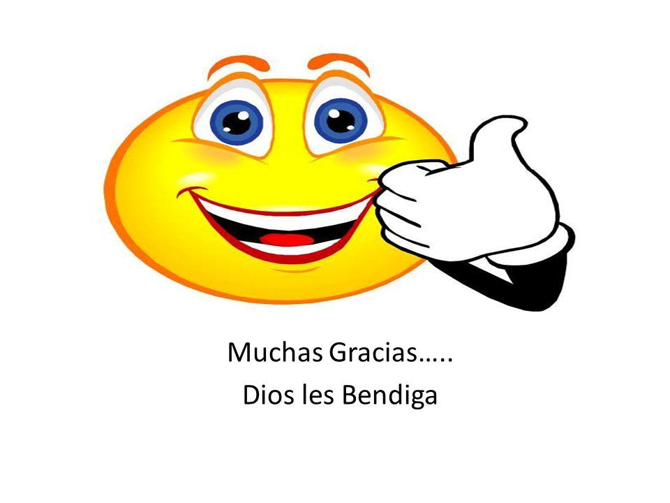 Muchas Gracias….. Dios les Bendiga