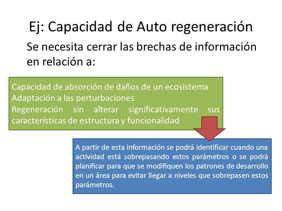 Ej: Capacidad de Auto regeneración