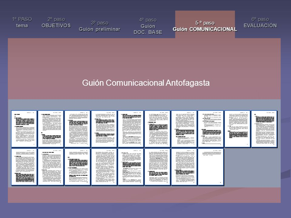 Guión Comunicacional Antofagasta