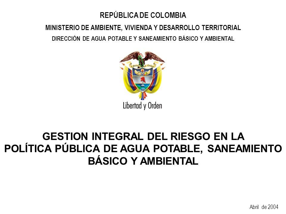 GESTION INTEGRAL DEL RIESGO EN LA