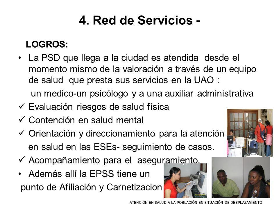 4. Red de Servicios - LOGROS: