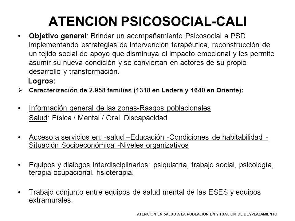ATENCION PSICOSOCIAL-CALI