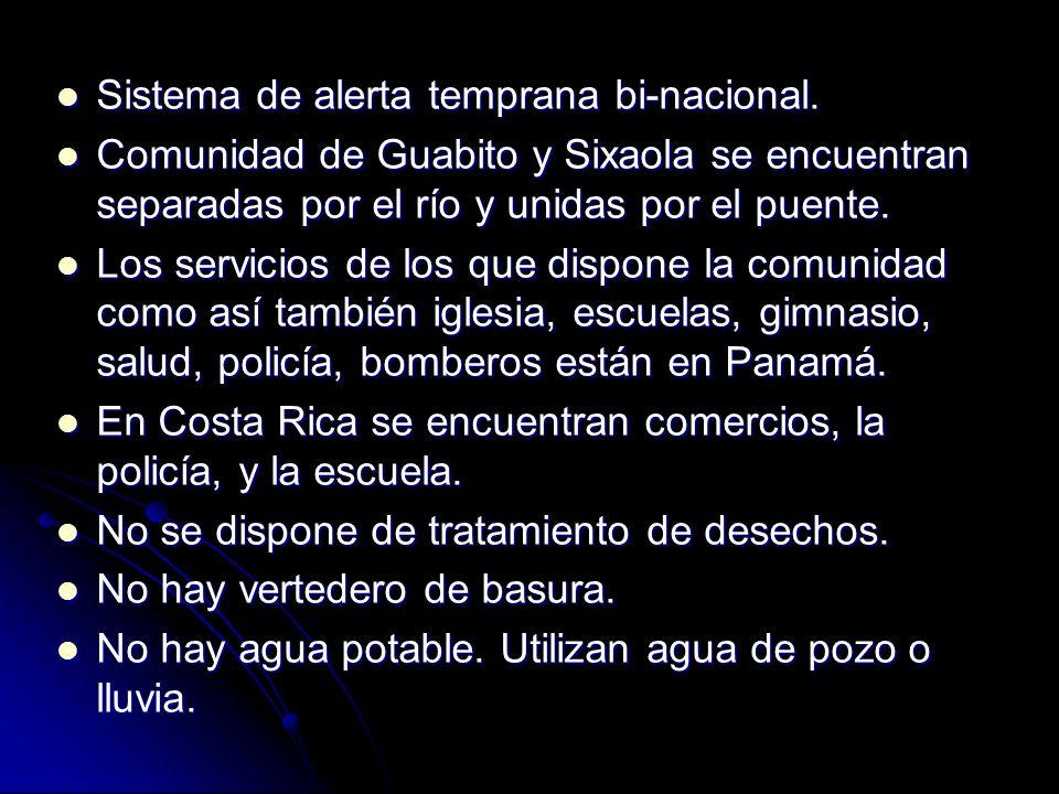 Sistema de alerta temprana bi-nacional.
