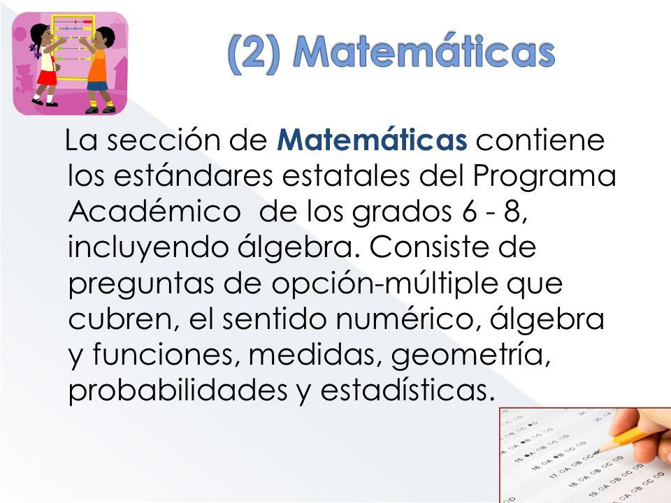(2) Matemáticas