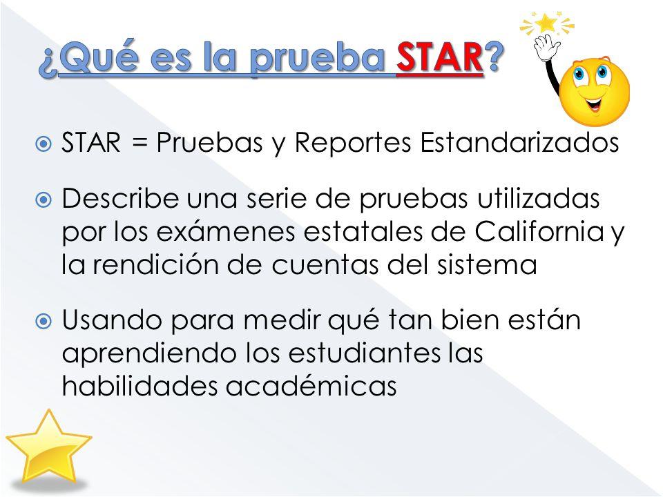 ¿Qué es la prueba STAR STAR = Pruebas y Reportes Estandarizados