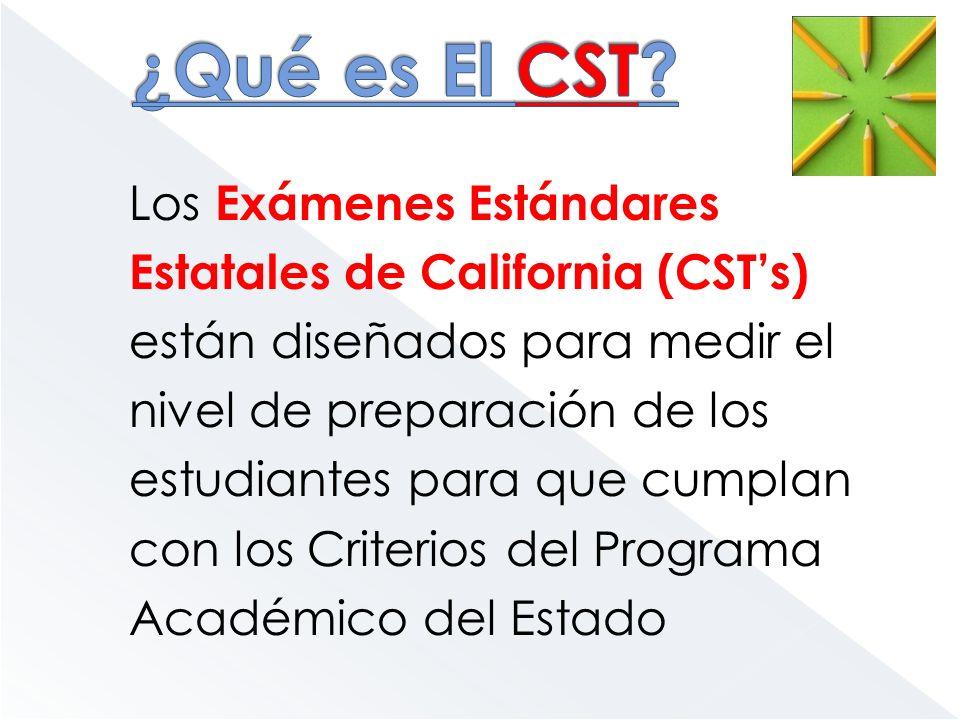 ¿Qué es El CST Los Exámenes Estándares