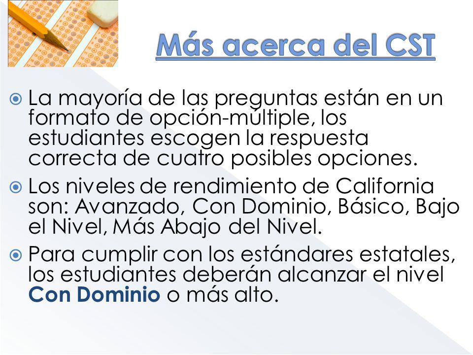Más acerca del CST