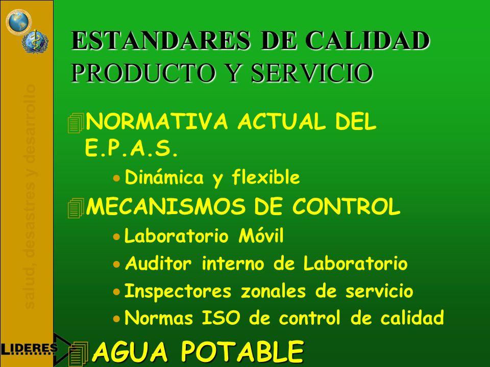 ESTANDARES DE CALIDAD PRODUCTO Y SERVICIO