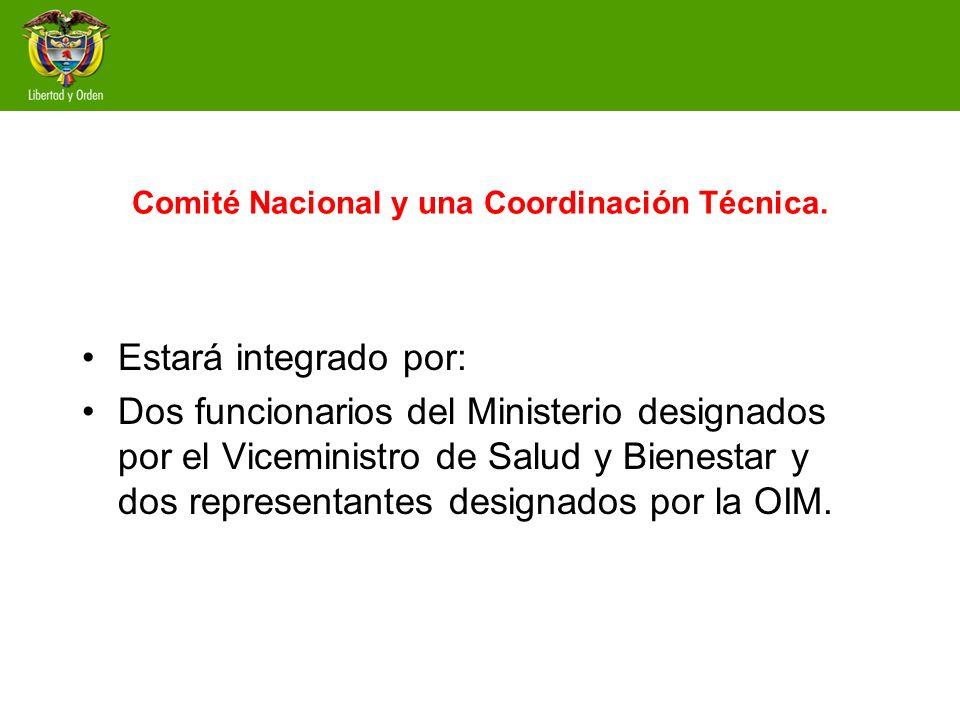 Comité Nacional y una Coordinación Técnica.