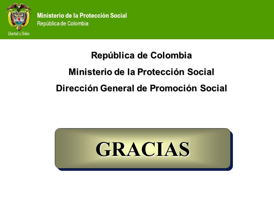 GRACIAS República de Colombia Ministerio de la Protección Social