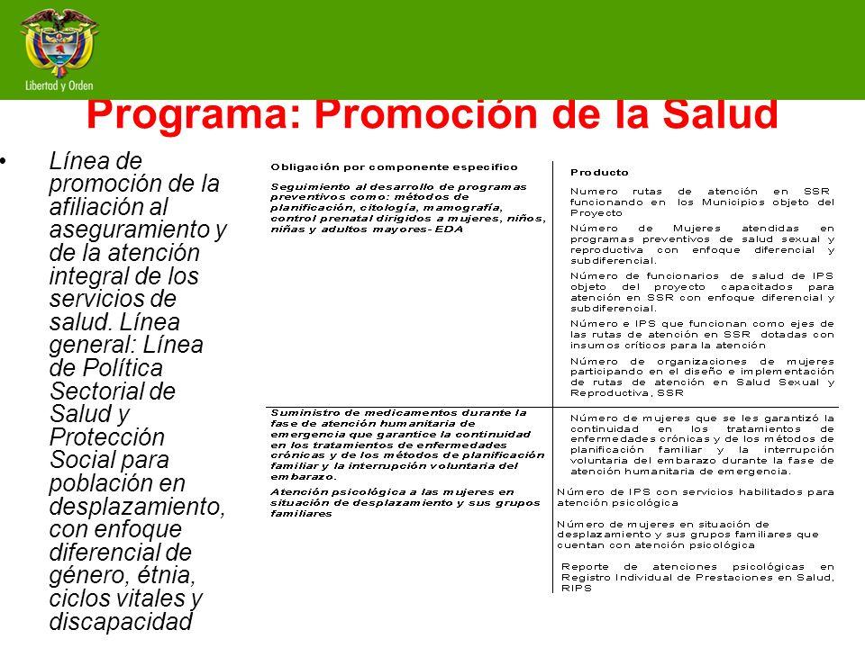 Programa: Promoción de la Salud