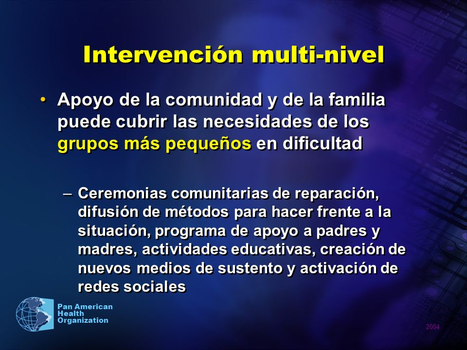 Intervención multi-nivel