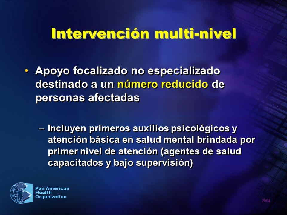 Intervención multi-nivel