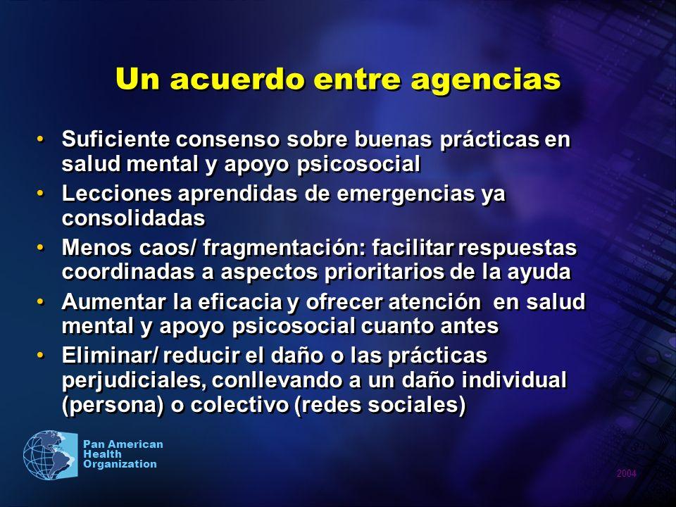 Un acuerdo entre agencias