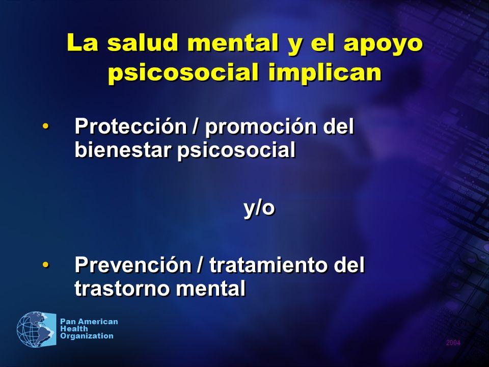 La salud mental y el apoyo psicosocial implican