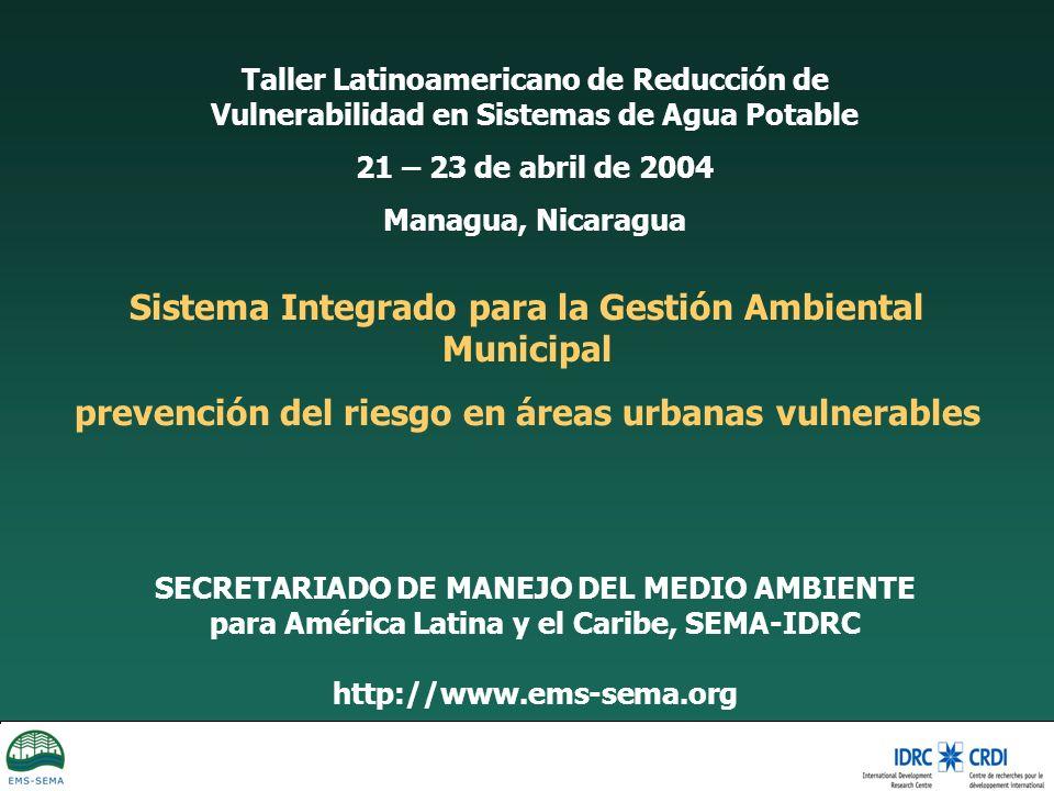 Sistema Integrado para la Gestión Ambiental Municipal
