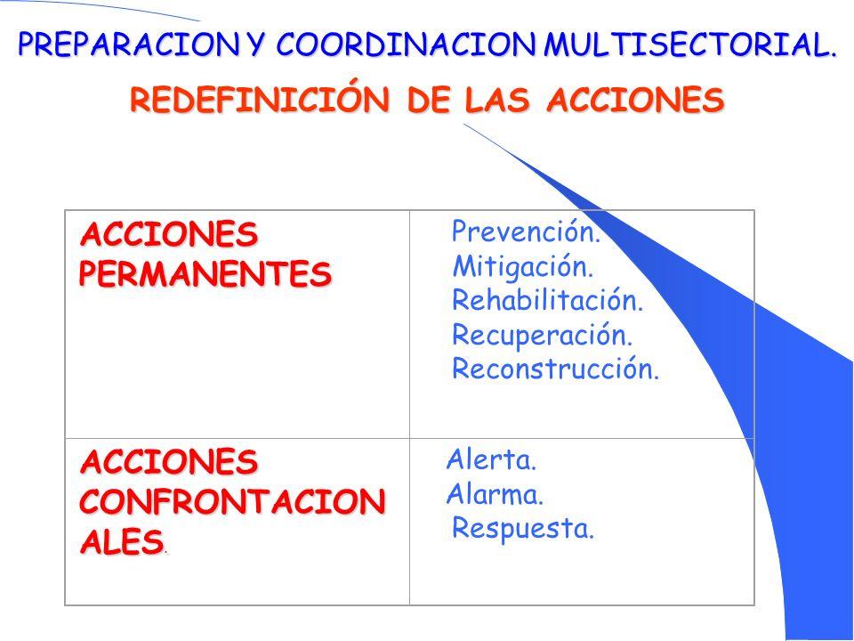REDEFINICIÓN DE LAS ACCIONES