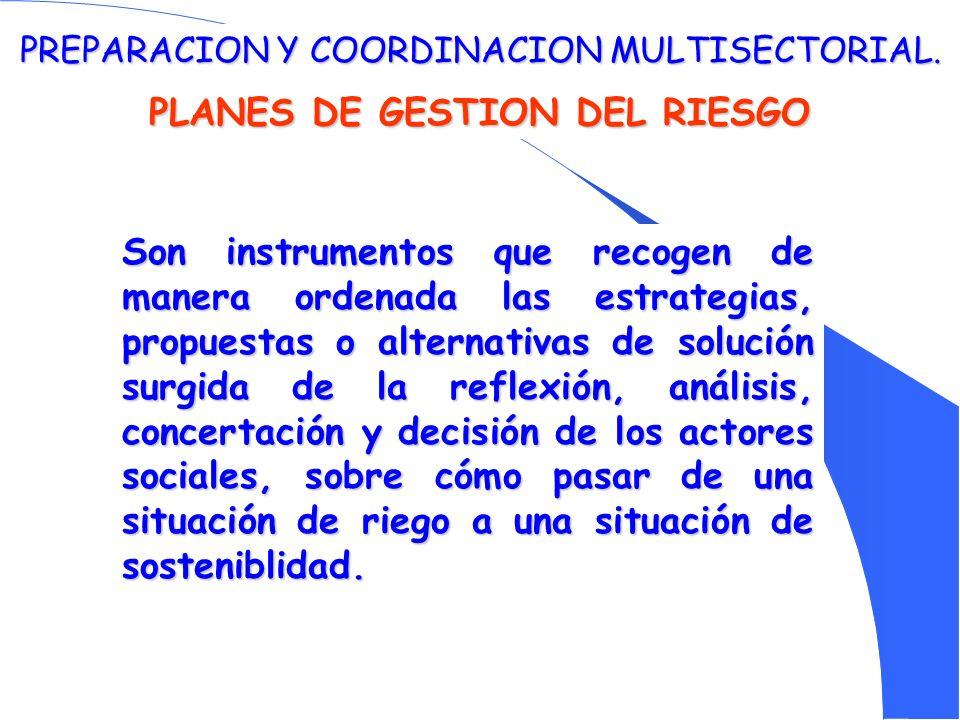 PLANES DE GESTION DEL RIESGO
