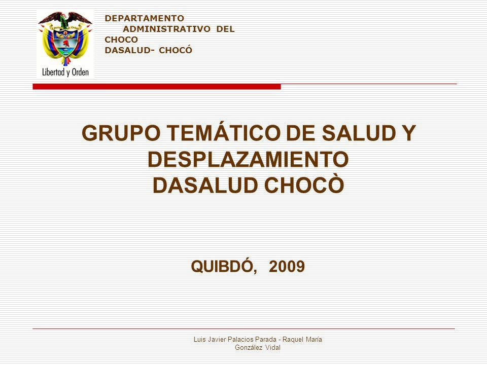 GRUPO TEMÁTICO DE SALUD Y DESPLAZAMIENTO