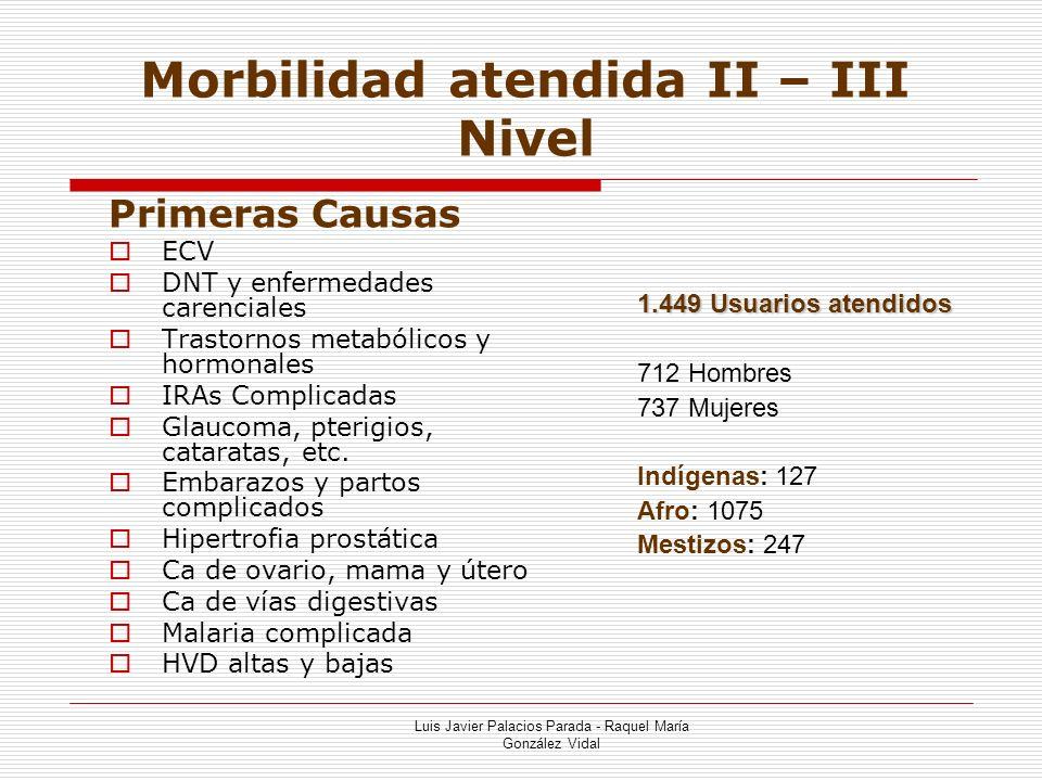Morbilidad atendida II – III Nivel