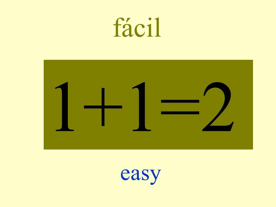 fácil 1+1=2 easy