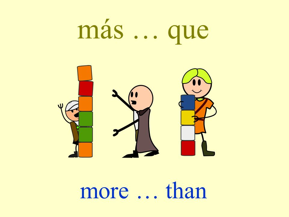 más … que more … than