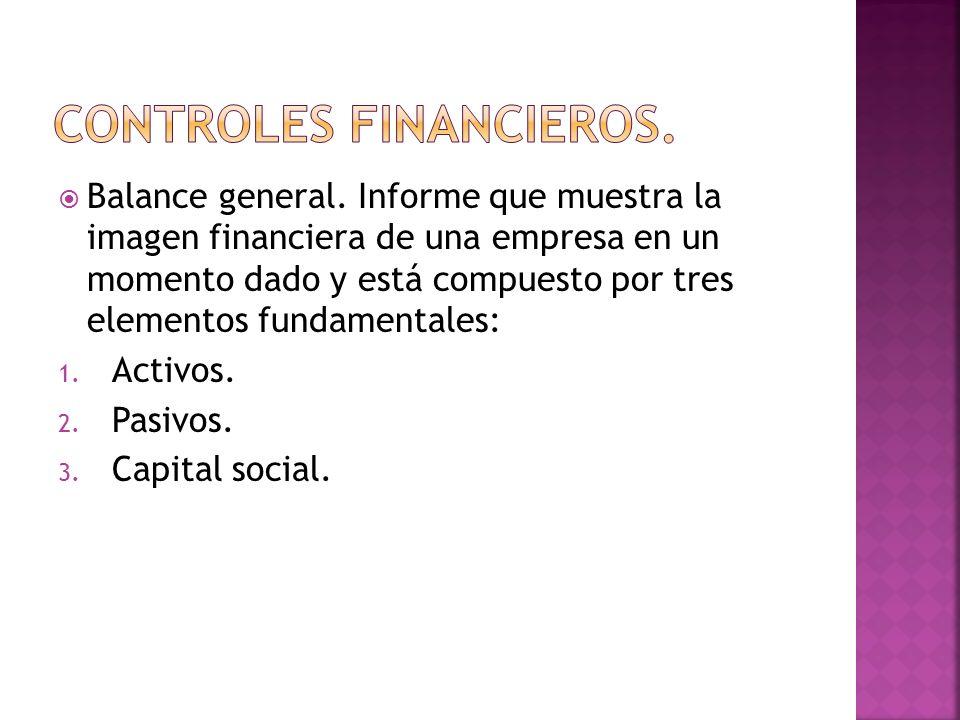 Controles financieros.