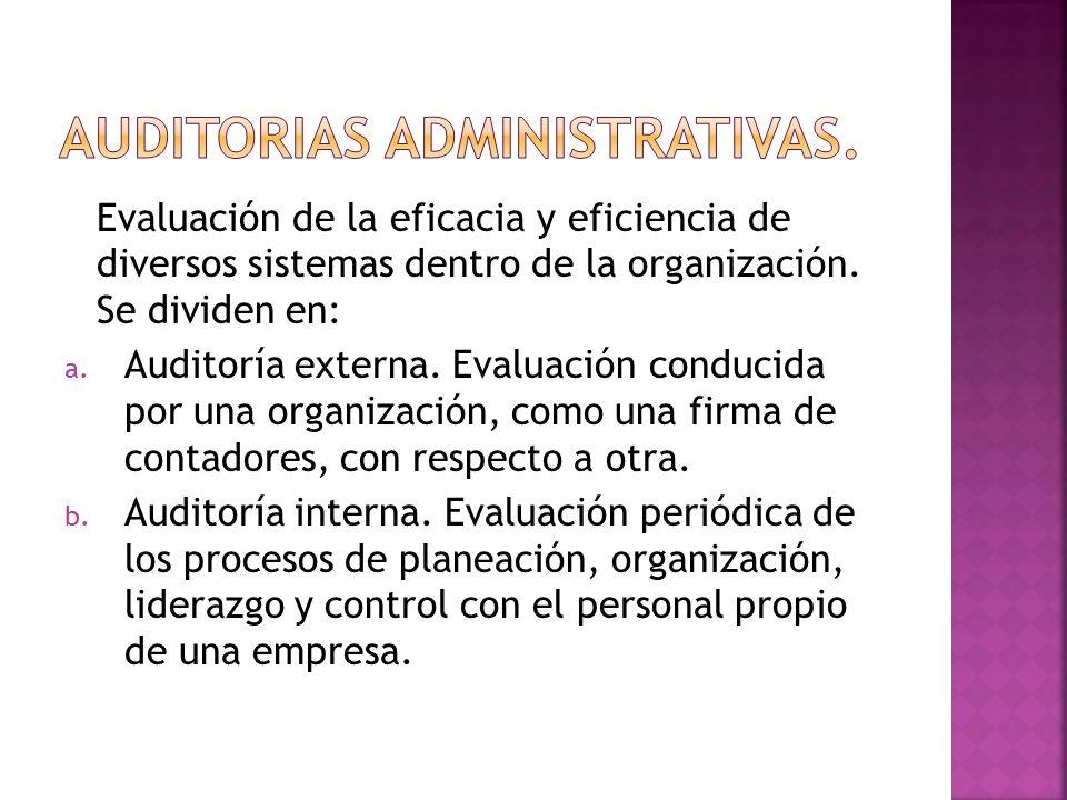 Auditorias administrativas.