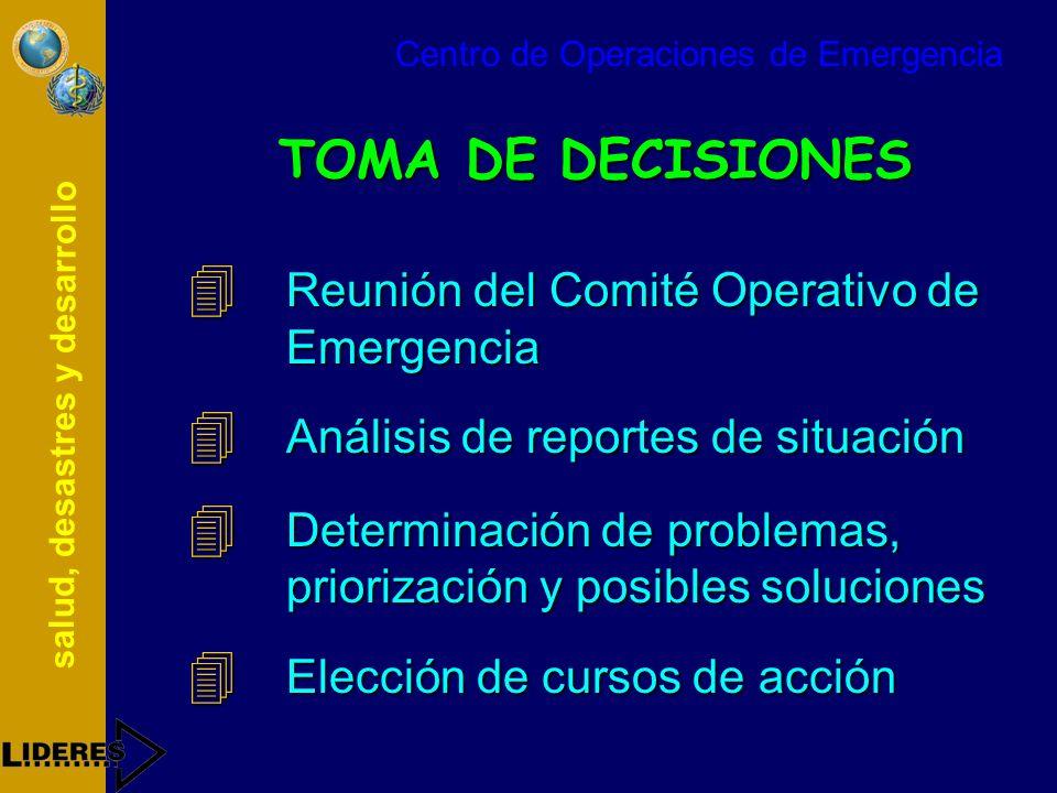 TOMA DE DECISIONES Reunión del Comité Operativo de Emergencia