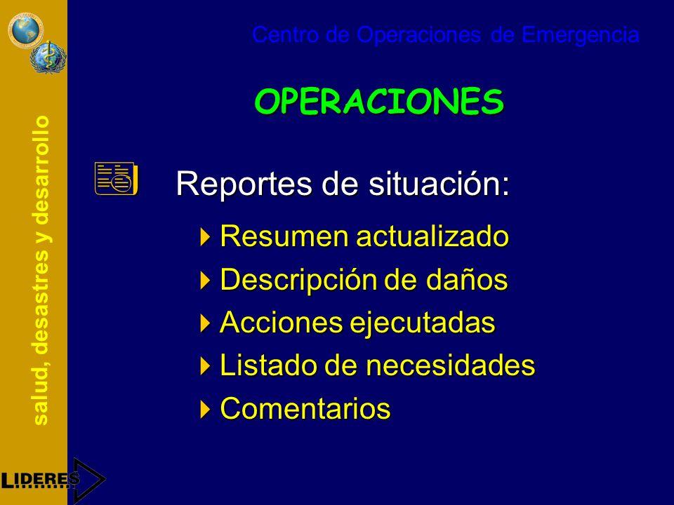 Reportes de situación: