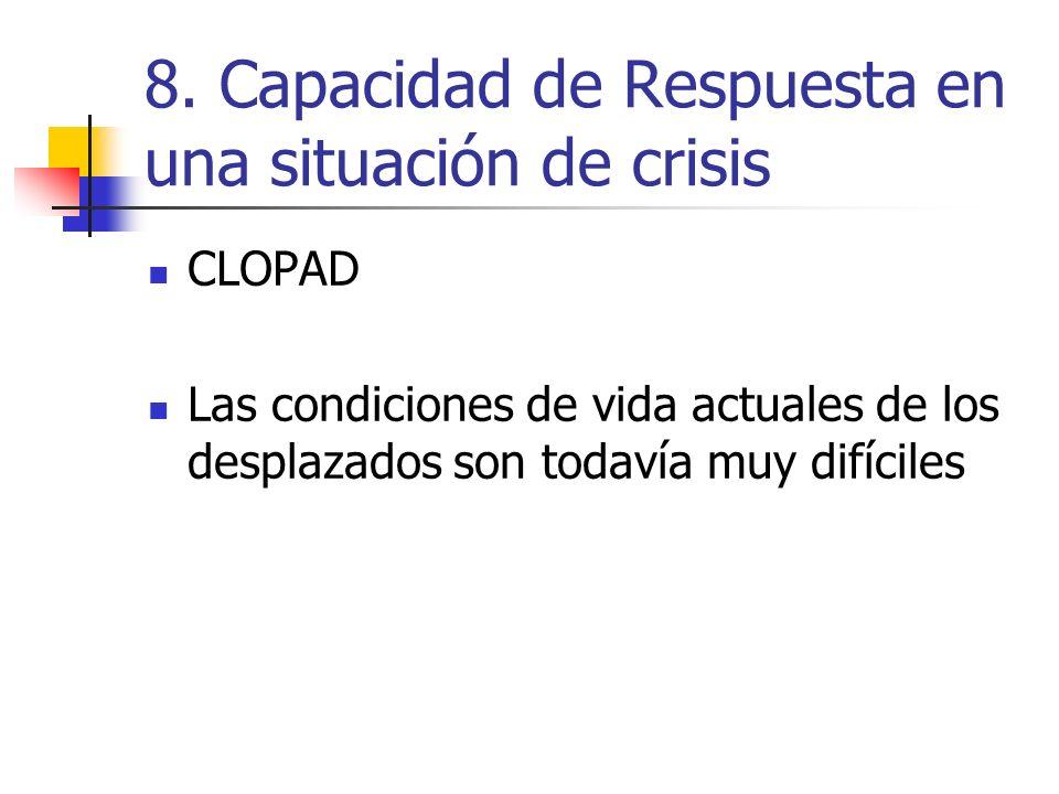 8. Capacidad de Respuesta en una situación de crisis