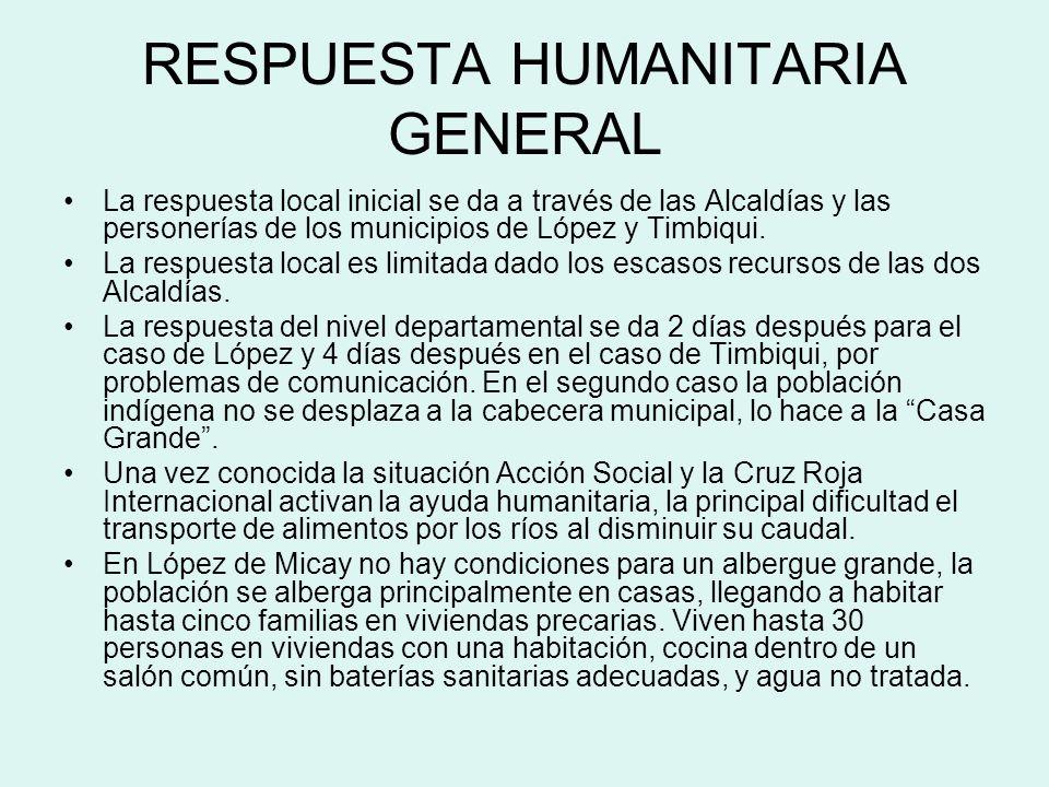 RESPUESTA HUMANITARIA GENERAL