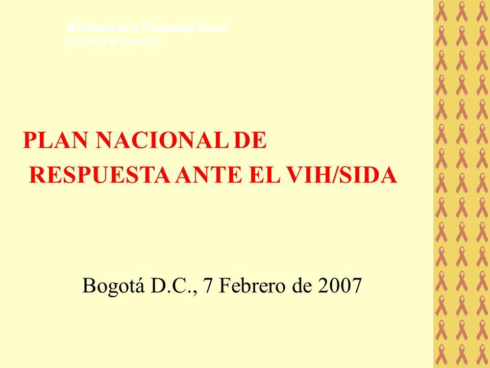 PLAN NACIONAL DE RESPUESTA ANTE EL VIH/SIDA