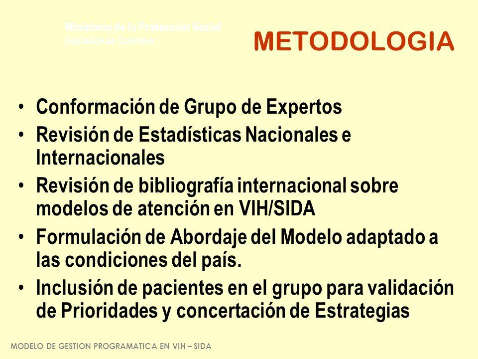 METODOLOGIA Conformación de Grupo de Expertos