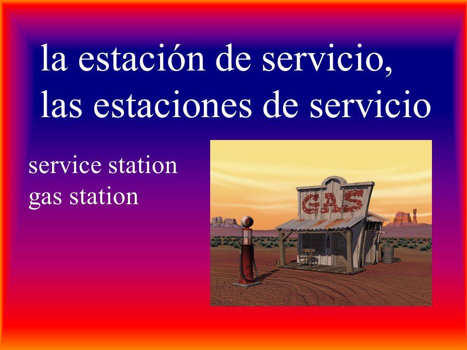 la estación de servicio, las estaciones de servicio