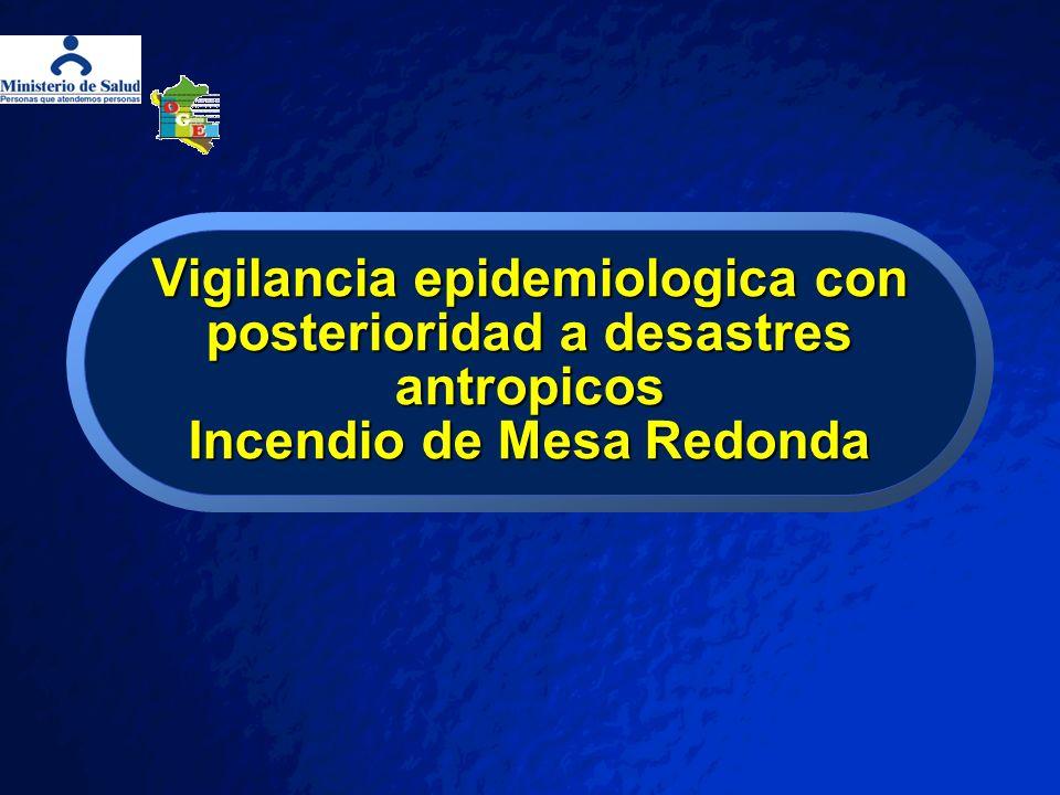 Vigilancia epidemiologica con posterioridad a desastres antropicos Incendio de Mesa Redonda