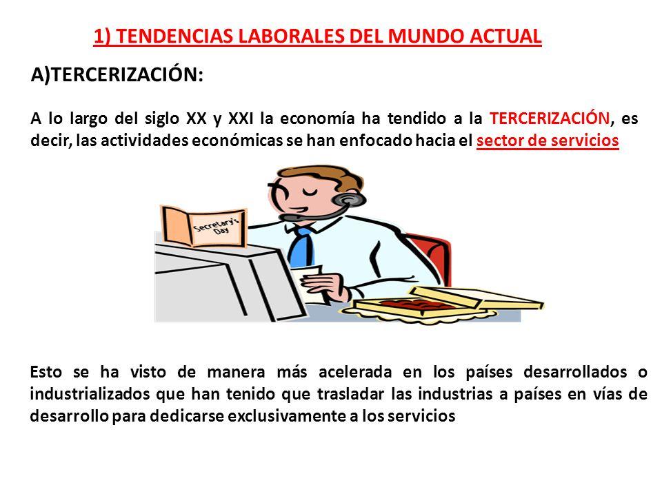 1) TENDENCIAS LABORALES DEL MUNDO ACTUAL