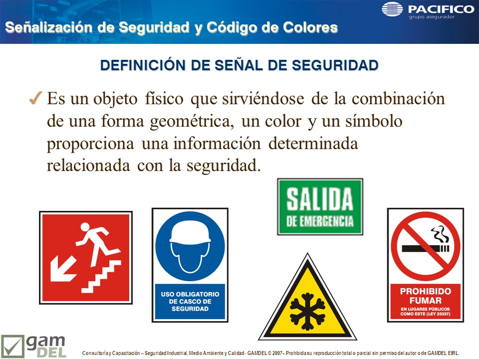 Se alizaci n de seguridad y c digo de colores ppt video for Origen y definicion de oficina