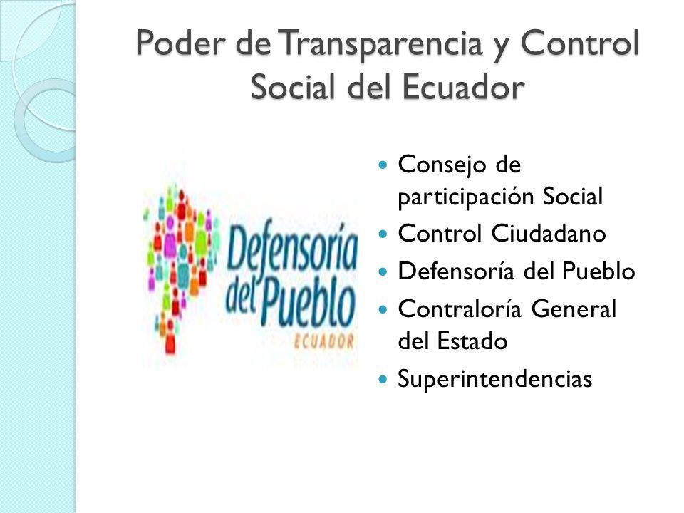 Poder de Transparencia y Control Social del Ecuador