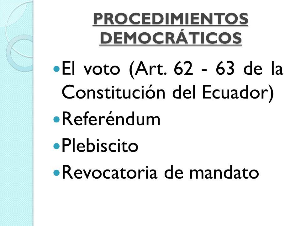 PROCEDIMIENTOS DEMOCRÁTICOS