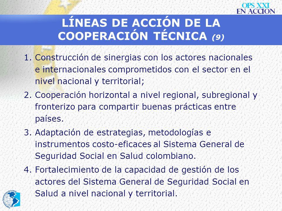LÍNEAS DE ACCIÓN DE LA COOPERACIÓN TÉCNICA (9)