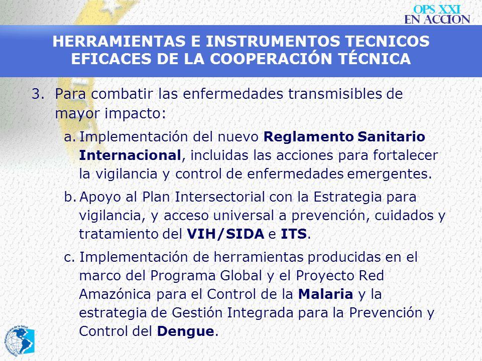 HERRAMIENTAS E INSTRUMENTOS TECNICOS EFICACES DE LA COOPERACIÓN TÉCNICA