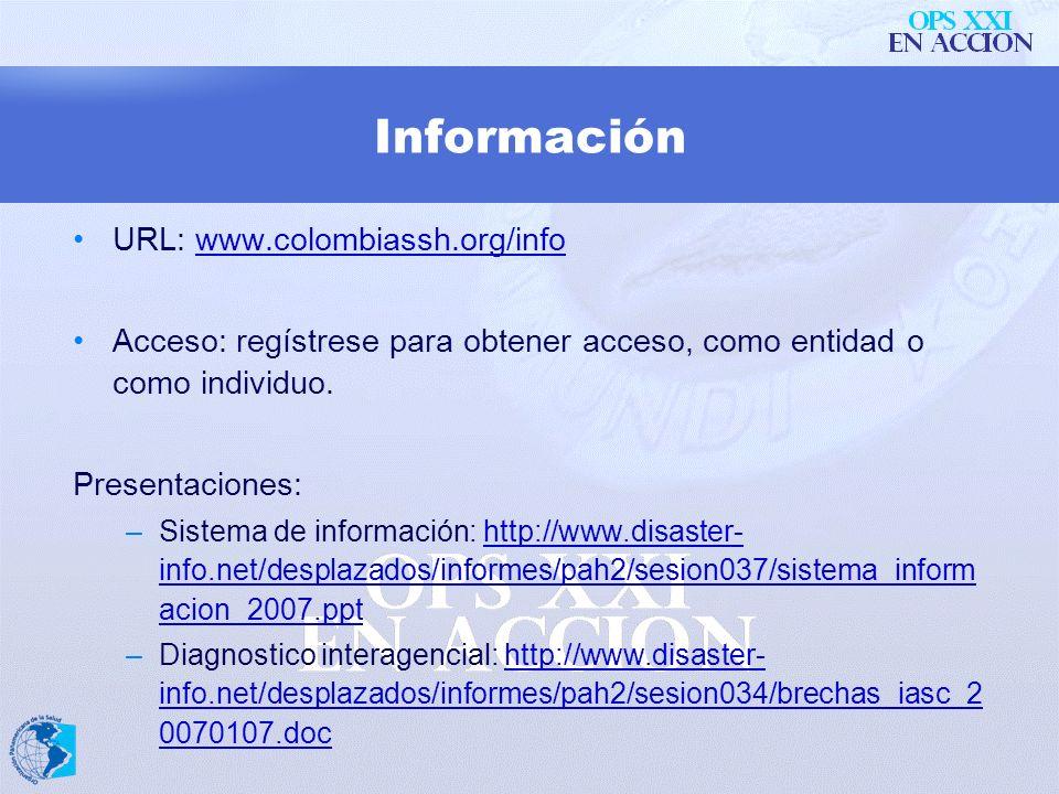 Información URL: www.colombiassh.org/info
