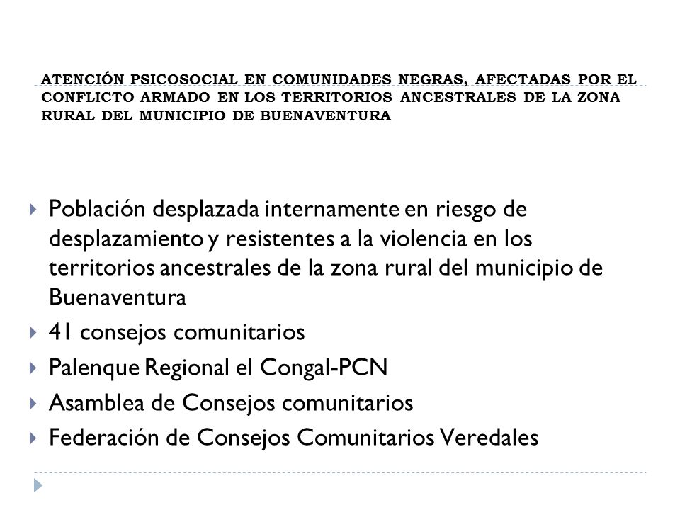41 consejos comunitarios Palenque Regional el Congal-PCN