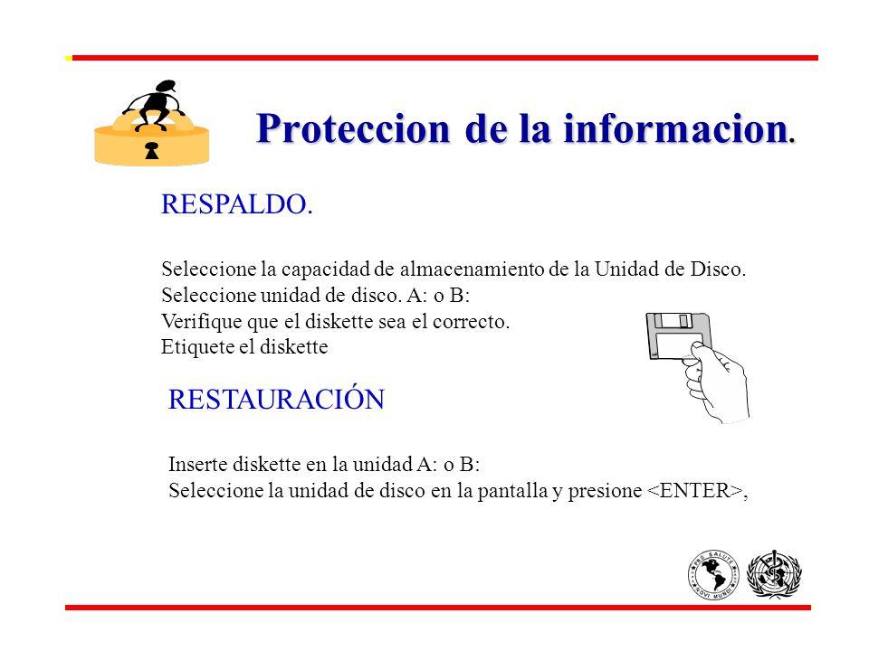 Proteccion de la informacion.