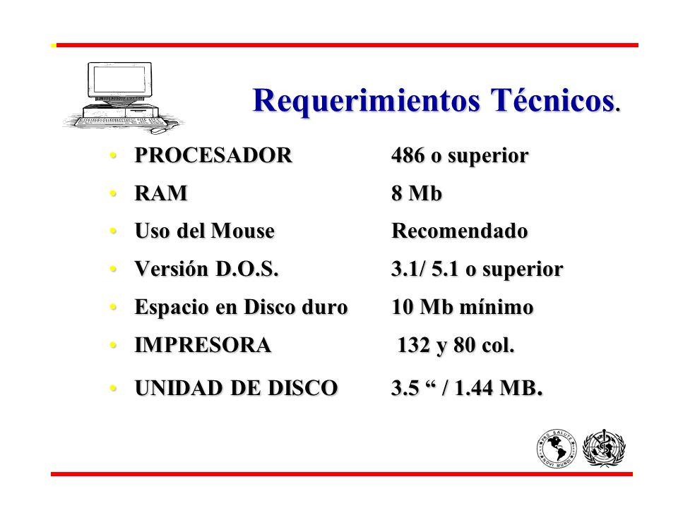 Requerimientos Técnicos.