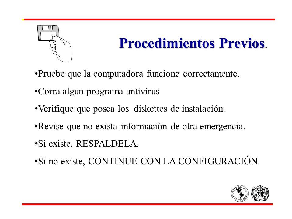 Procedimientos Previos.