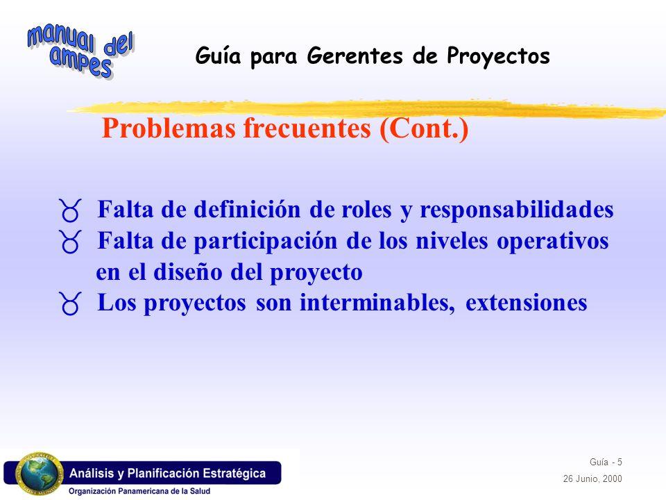 Problemas frecuentes (Cont.)